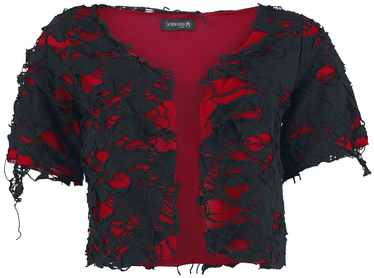 e971c5f4da845 Marka własna Kurtki Bolerko Gothicana by EMP Slashed Bolero Bolerko  czerwonyczarmy 344216 - cena - 29.90 zł