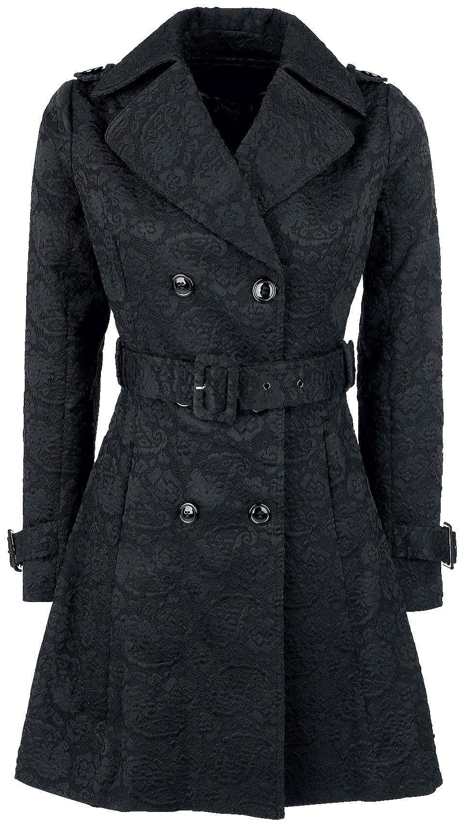 Voodoo Vixen Susan Coat Płaszcz damski czarny