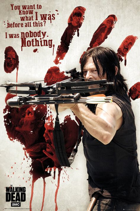 Image of   The Walking Dead Daryl Dixon - Bloody Hands Plakat Standard
