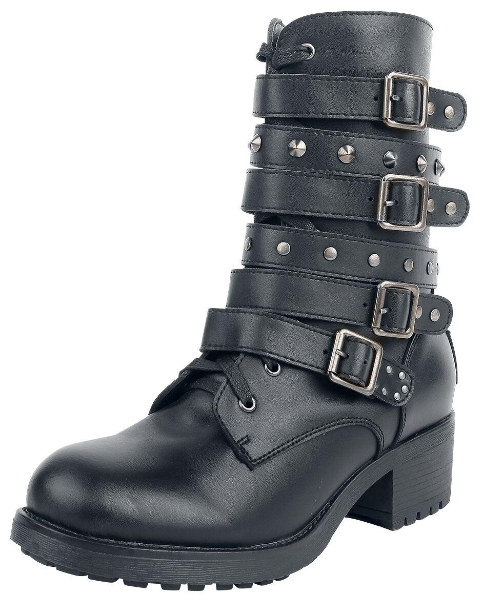 Image of   Black Premium by EMP Dark High Strap Boot Støvler sort