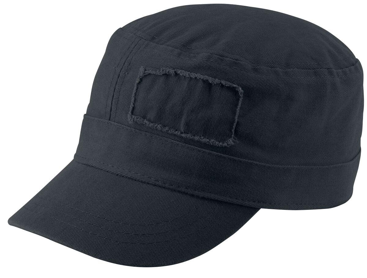 Basics - Czapki i Kapelusze - Czapka wojskowa Military Cap Czapka wojskowa czarny - 344443
