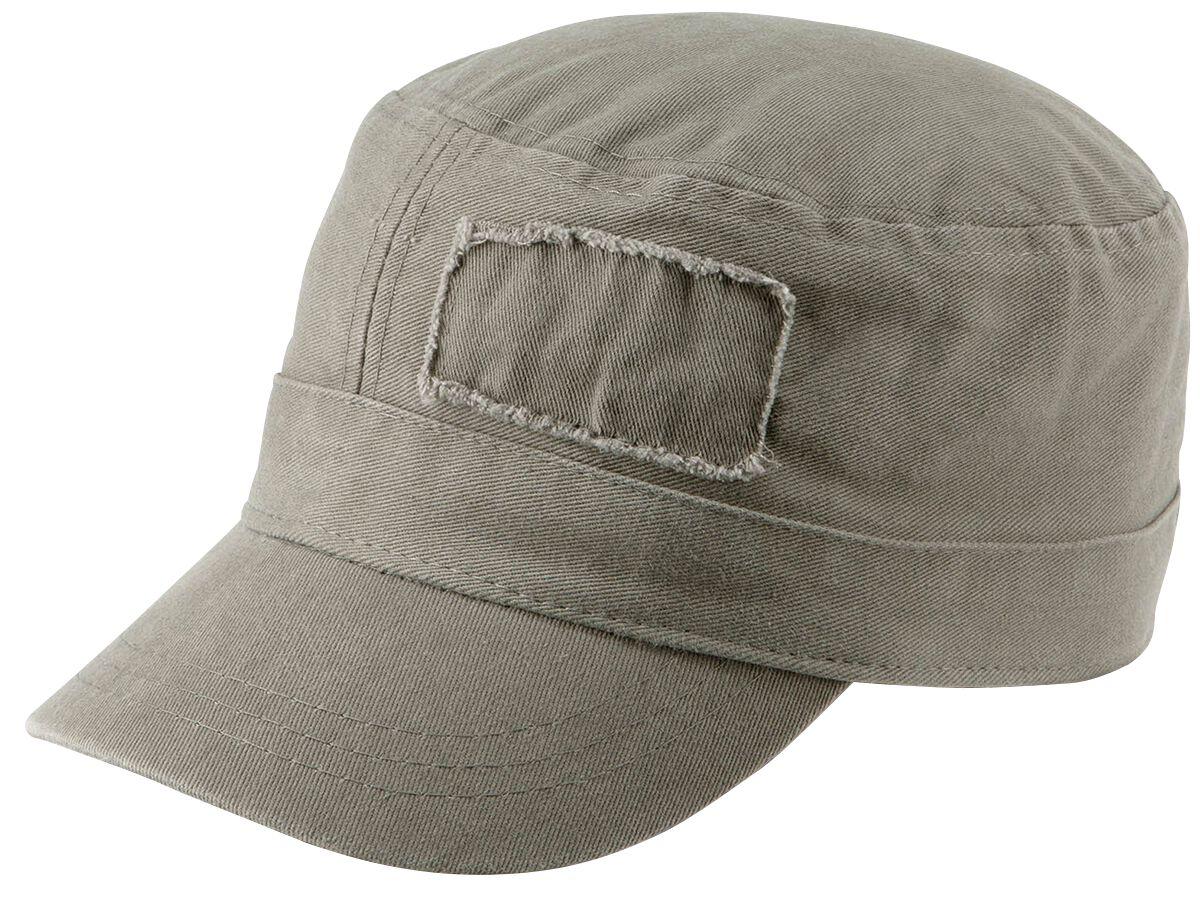 Basics - Czapki i Kapelusze - Czapka wojskowa Military Cap Czapka wojskowa oliwkowy - 344444