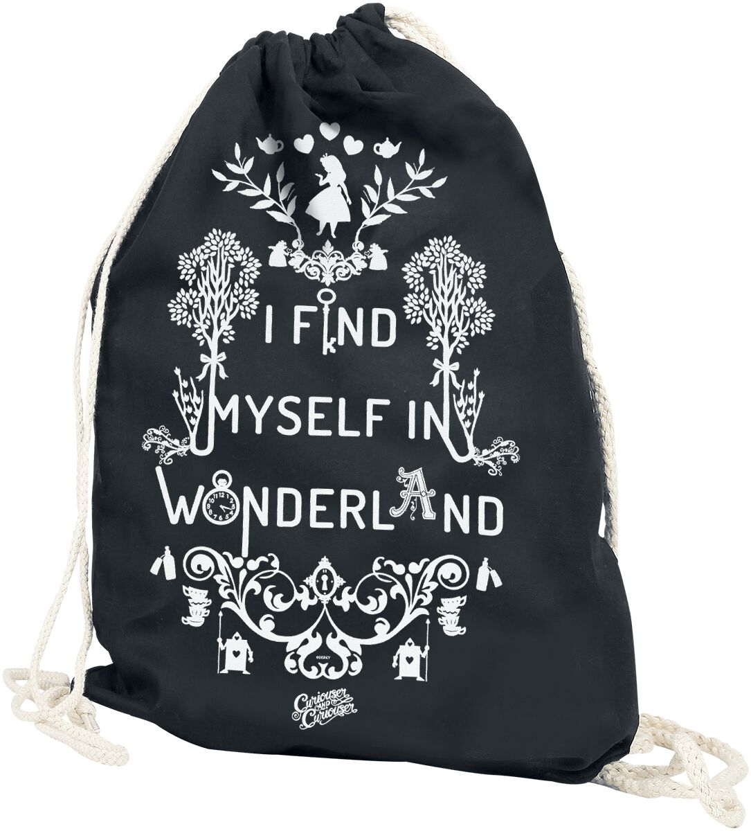 Image of   Alice i Eventyrland I Find Myself In Wonderland Gymnastiktaske sort
