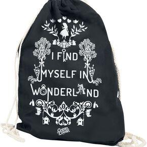 Alice Au Pays Des Merveilles I Find Myself In Wonderland Sac de Gym noir