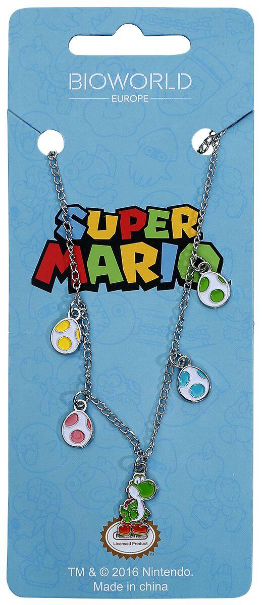 Image of   Super Mario Yoshi and Eggs Halskæde sølvfarvet