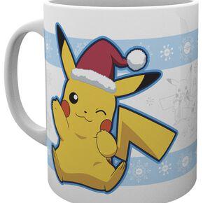 Pokémon Pikachu Santa Mug blanc