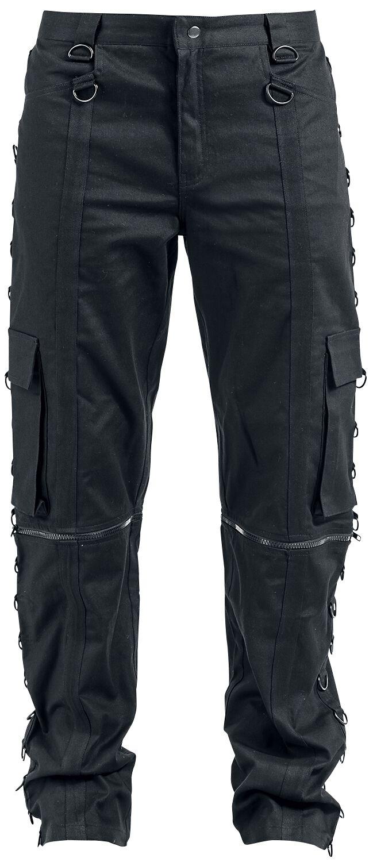 Marki - Spodnie długie - Spodnie Zoelibat Zipper Trousers Spodnie czarny - 344730