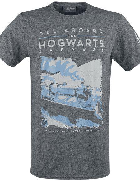 Harry Potter Poudlard Express T-shirt gris chiné