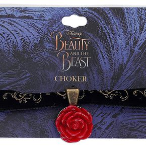 La Belle Et La Bête Chocker Rose Collier noir