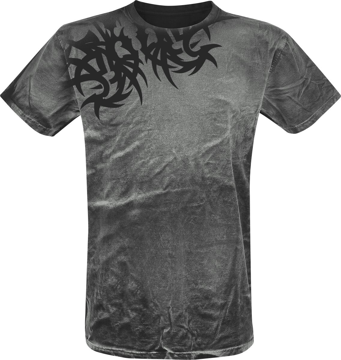Image of   Outer Vision Spine Tattoo T-Shirt grå
