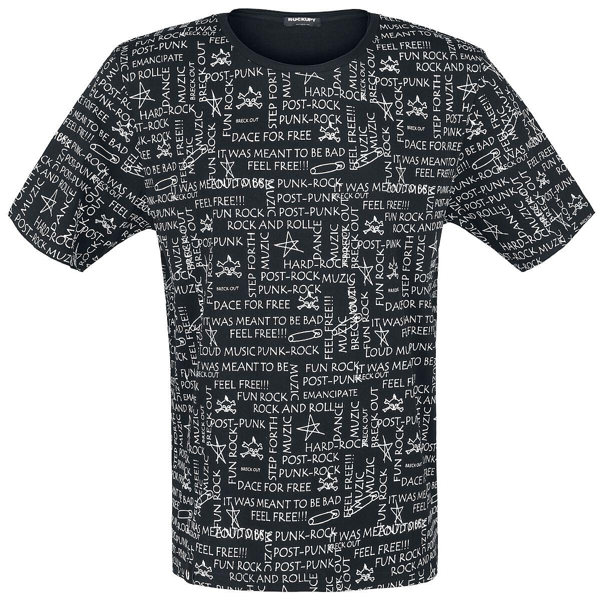 Marki - Koszulki - T-Shirt Rockupy W&B T-Shirt czarny - 344895