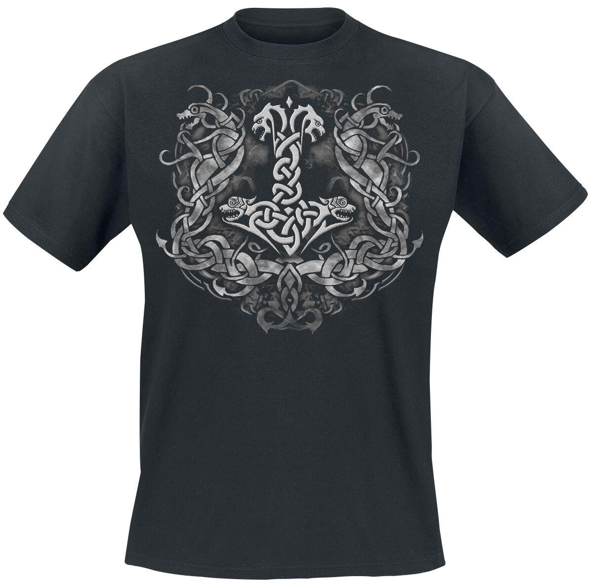 Motyw - Koszulki - T-Shirt Donars Hammer T-Shirt czarny - 344966