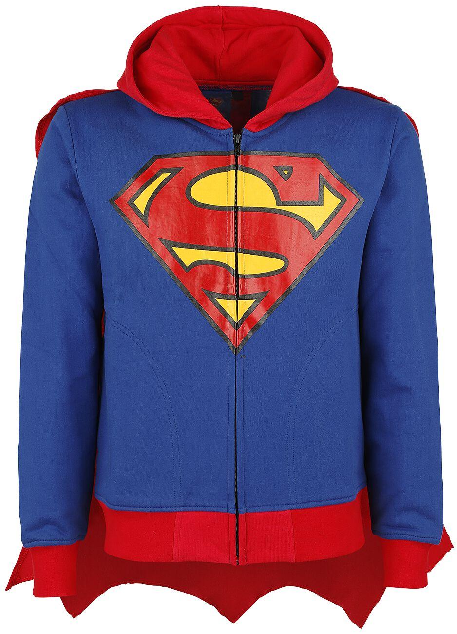 Merch dla Fanów - Bluzy z kapturem - Bluza z kapturem rozpinana Superman Super Hood Bluza z kapturem rozpinana niebieski/czerwony - 344974