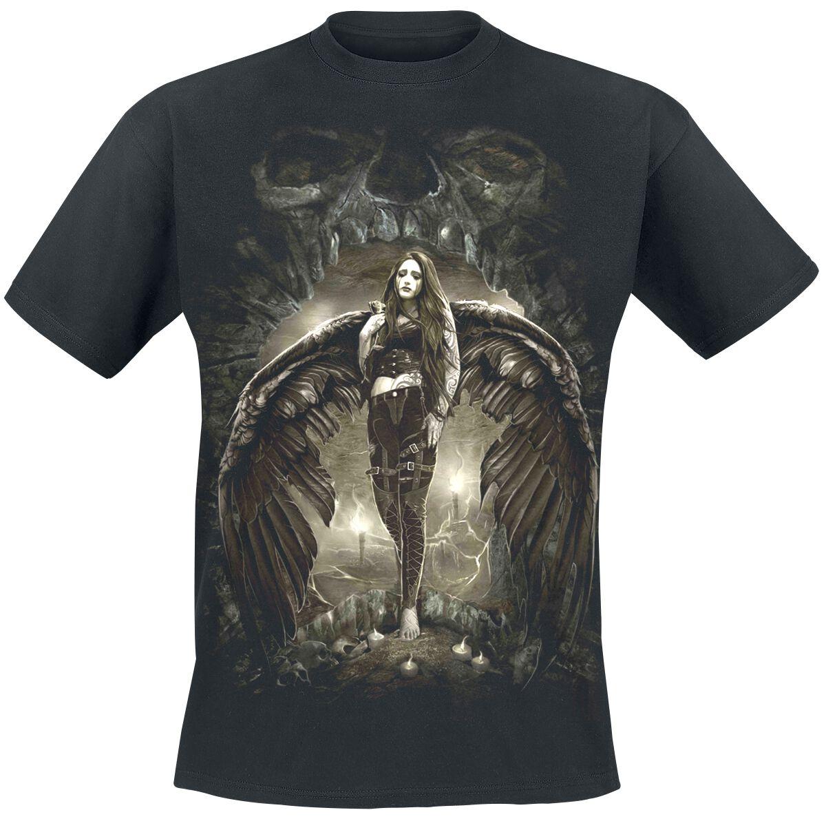 Image of   Spiral Dark Angel T-Shirt sort