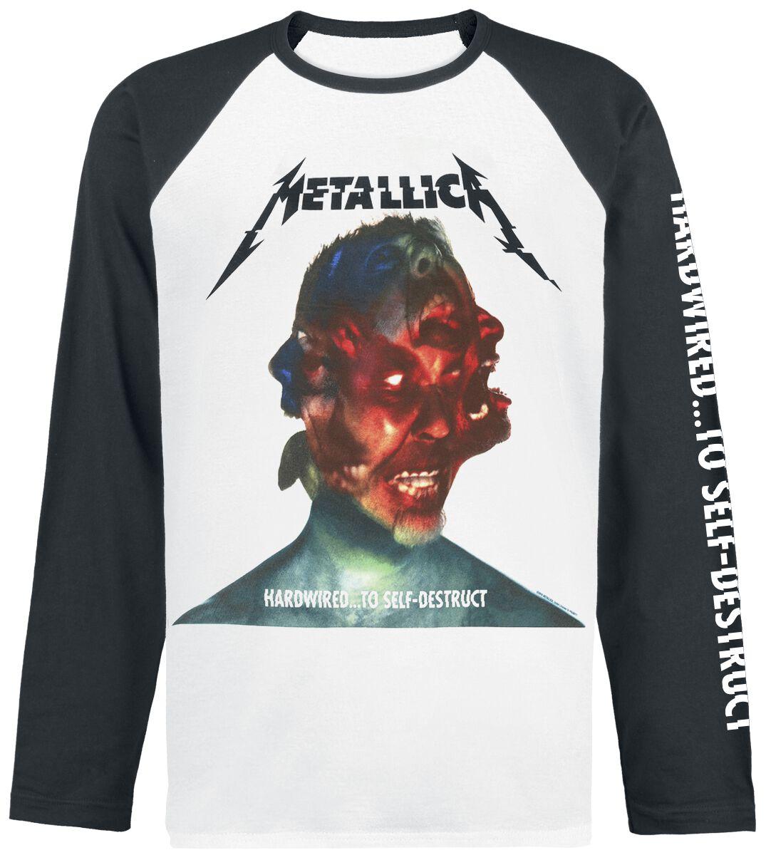 Image of   Metallica Hardwired...To Self-Destruct Langærmet sort-hvid