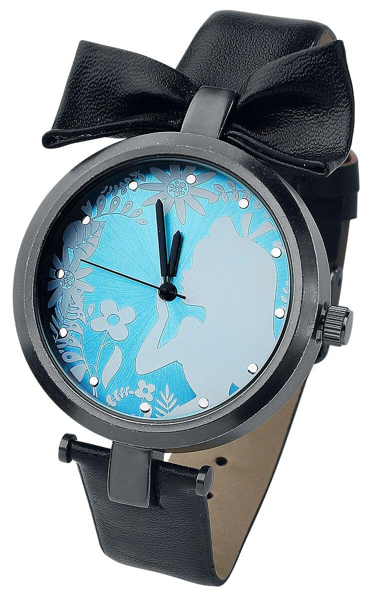 Uhren für Frauen - Alice im Wunderland Alice Armbanduhr schwarz blau weiß  - Onlineshop EMP