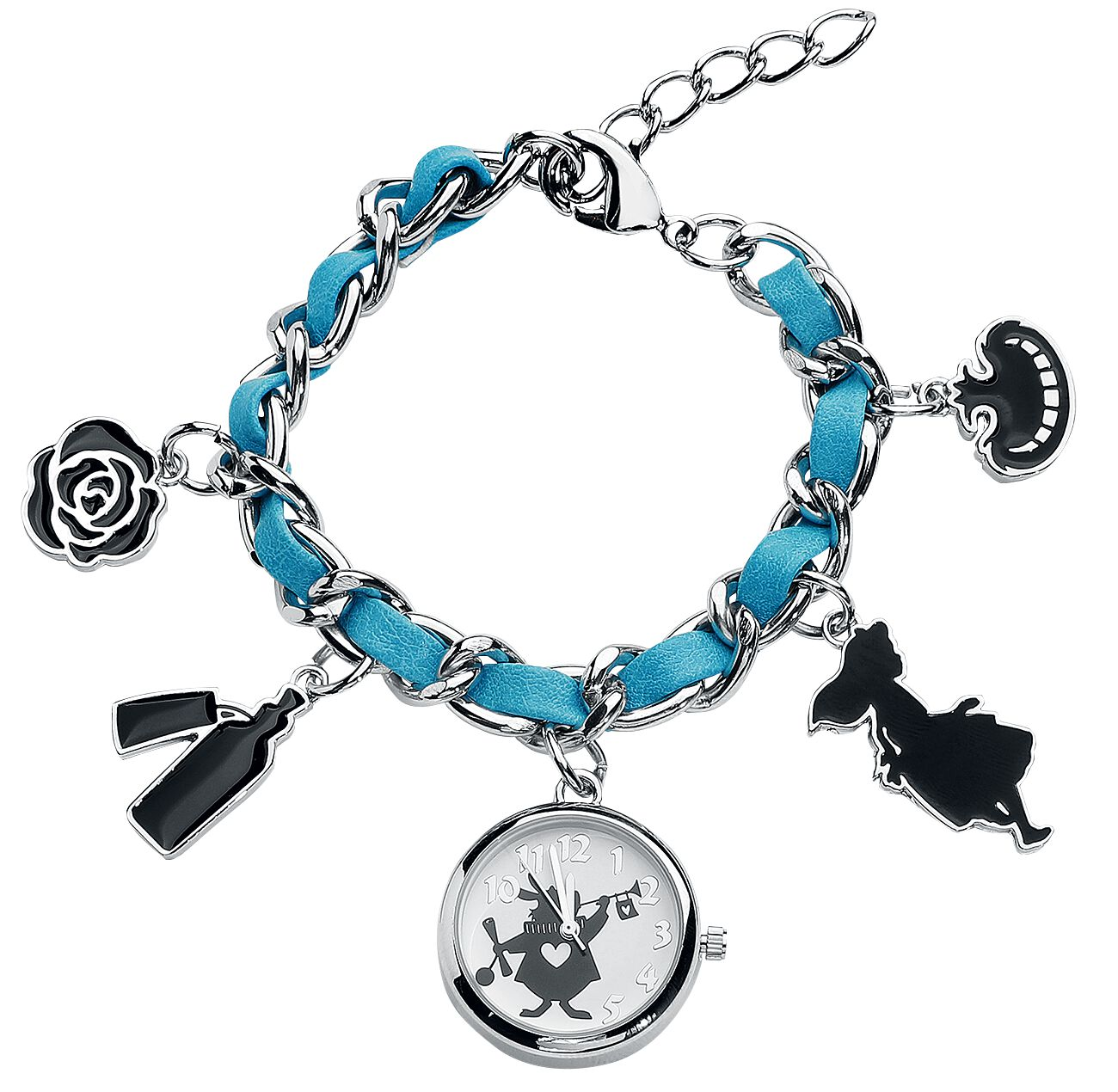 Uhren für Frauen - Alice im Wunderland Rabbit Armbanduhr silberfarben  - Onlineshop EMP