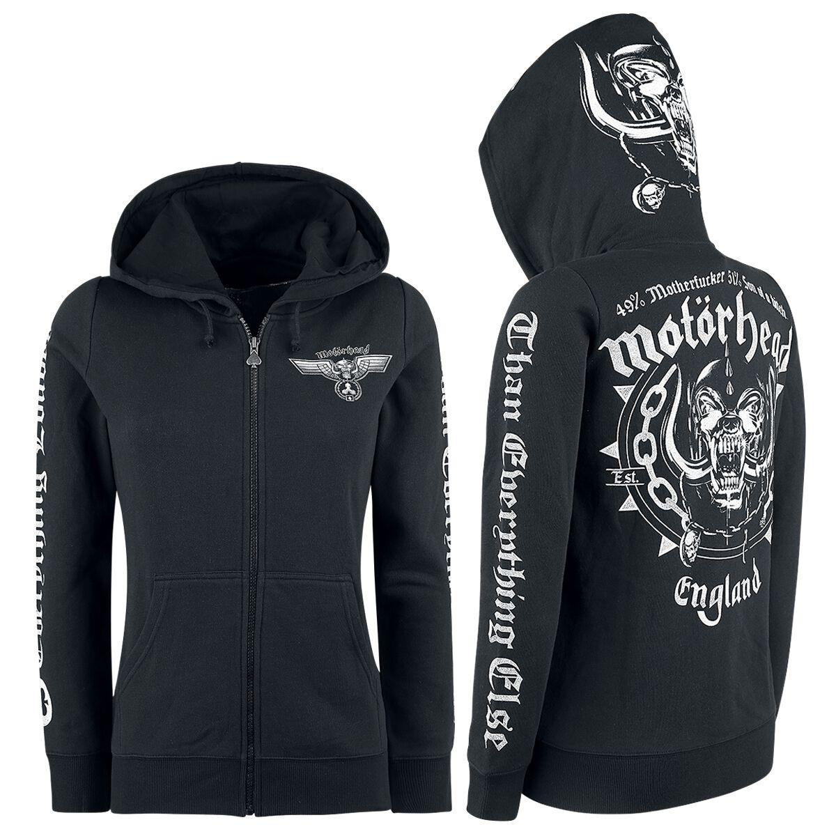 Image of   Motörhead England Girlie hættejakke sort