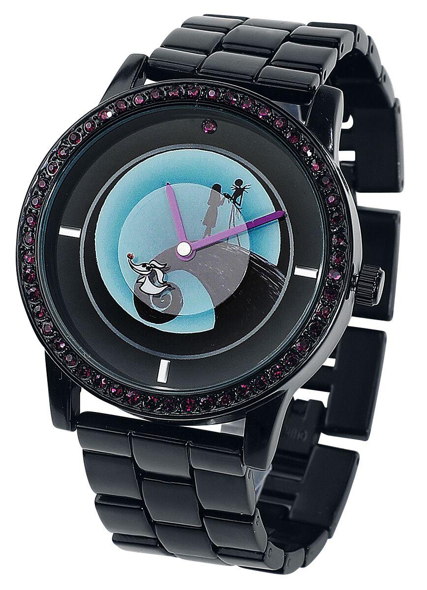 Uhren für Frauen - The Nightmare Before Christmas Jack and Sally Armbanduhr schwarz  - Onlineshop EMP