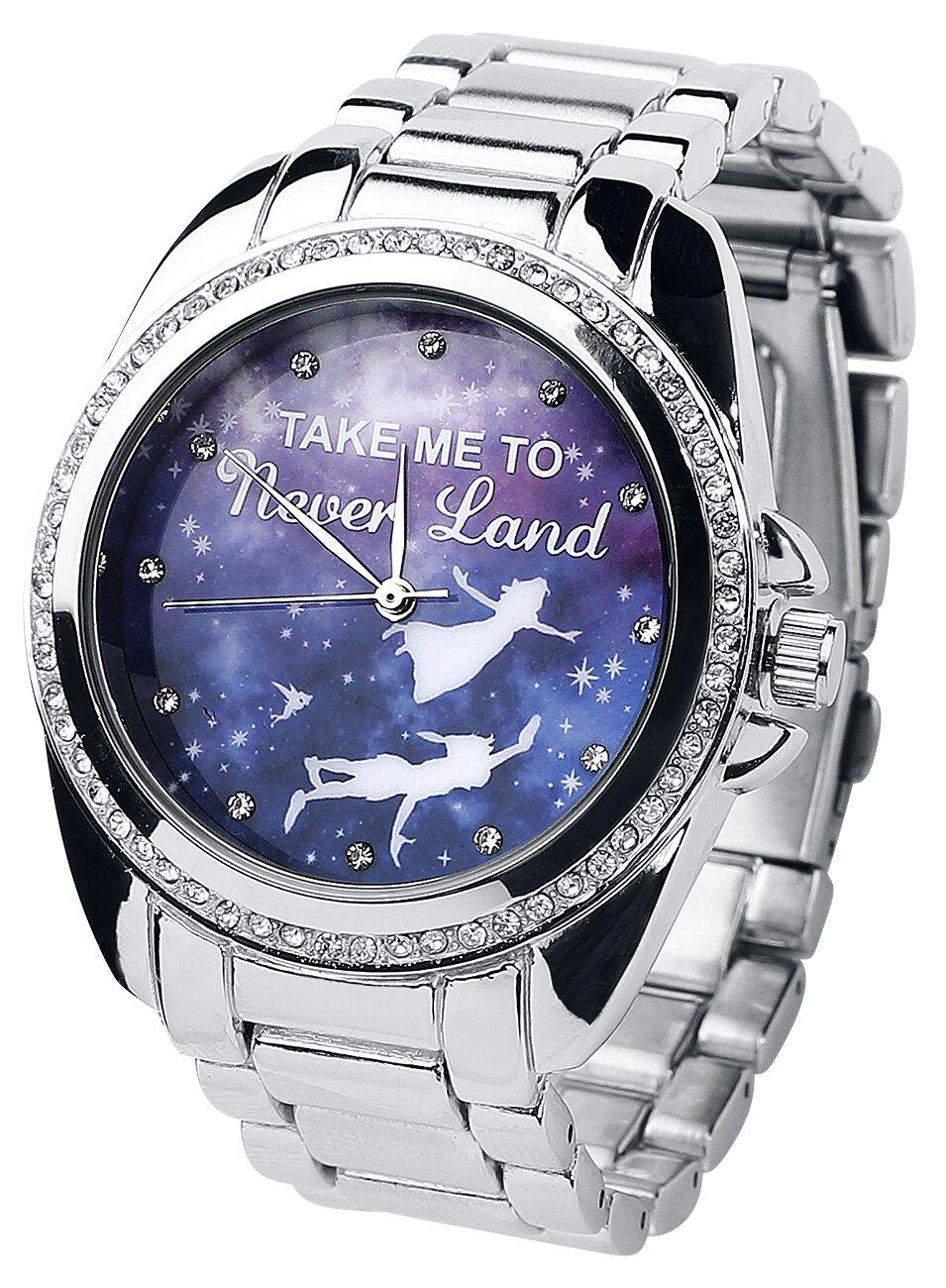 Uhren für Frauen - Peter Pan Take Me To Neverland Armbanduhr silberfarben  - Onlineshop EMP