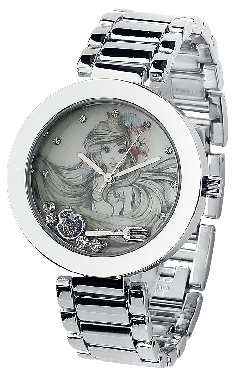 Uhren für Frauen - Arielle die Meerjungfrau Arielle Armbanduhr silberfarben  - Onlineshop EMP
