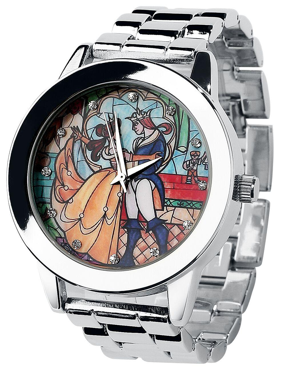 Uhren für Frauen - Die Schöne und das Biest Belle Armbanduhr silberfarben  - Onlineshop EMP