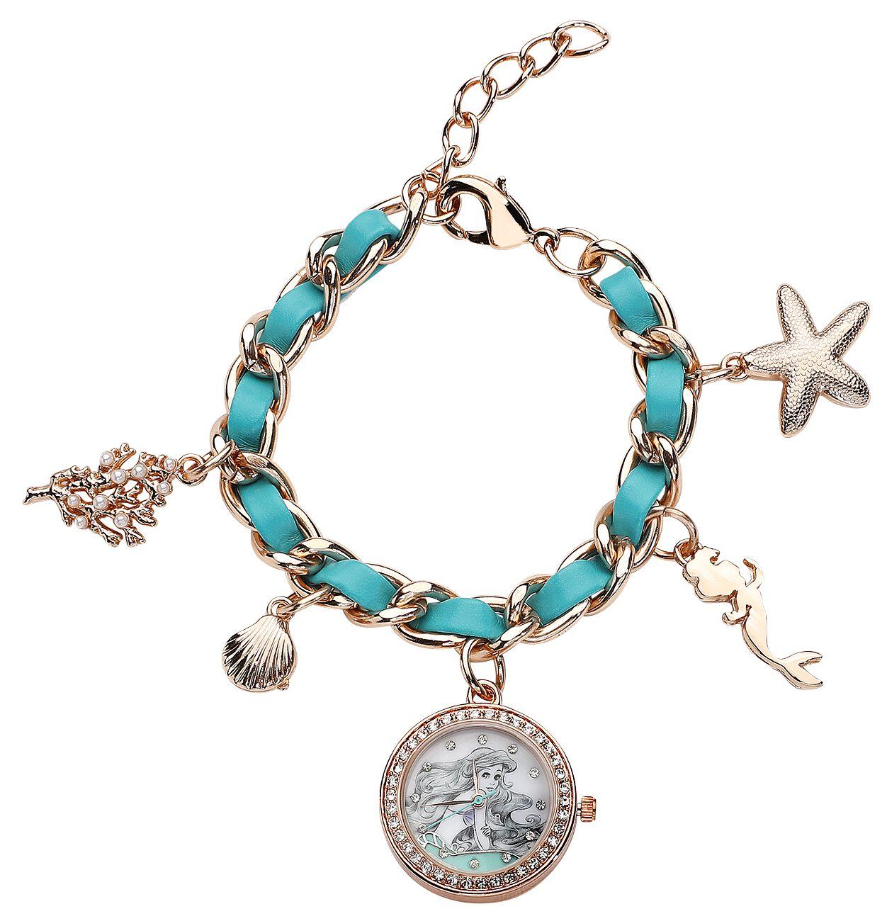 Uhren für Frauen - Arielle die Meerjungfrau Arielle Armbanduhr goldfarben  - Onlineshop EMP