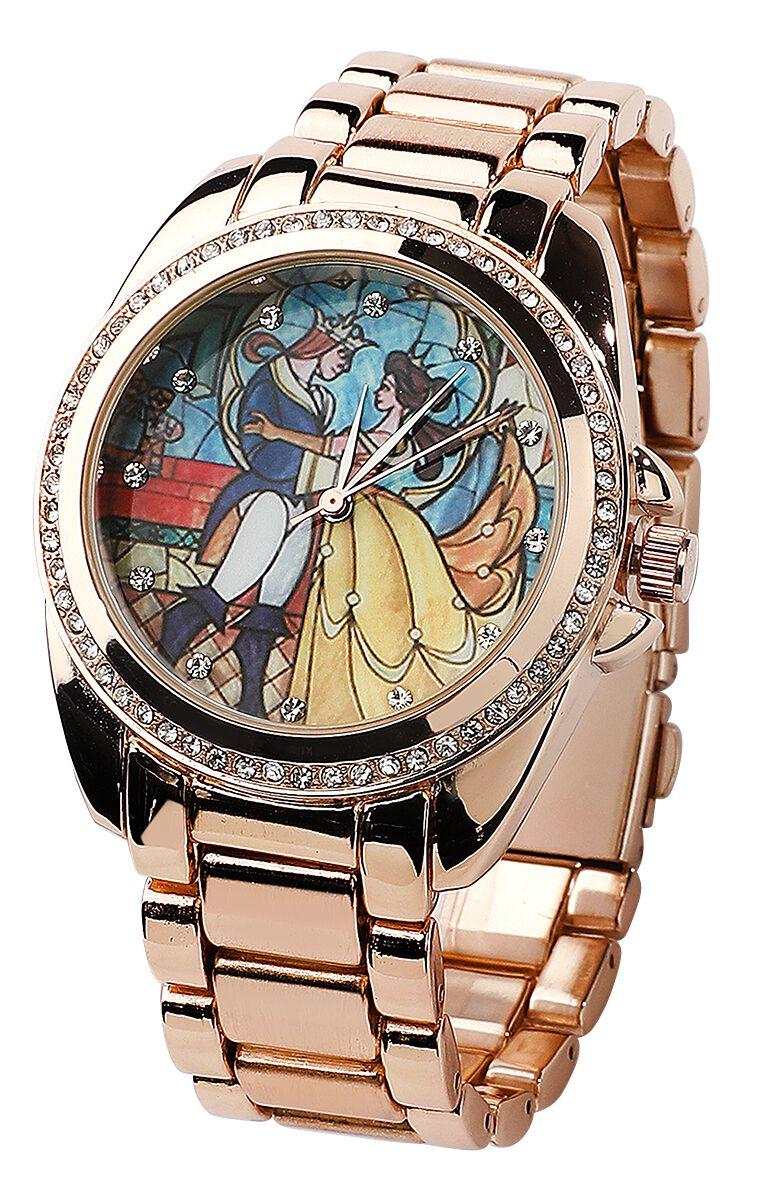 Uhren für Frauen - Die Schöne und das Biest Belle Armbanduhr goldfarben  - Onlineshop EMP