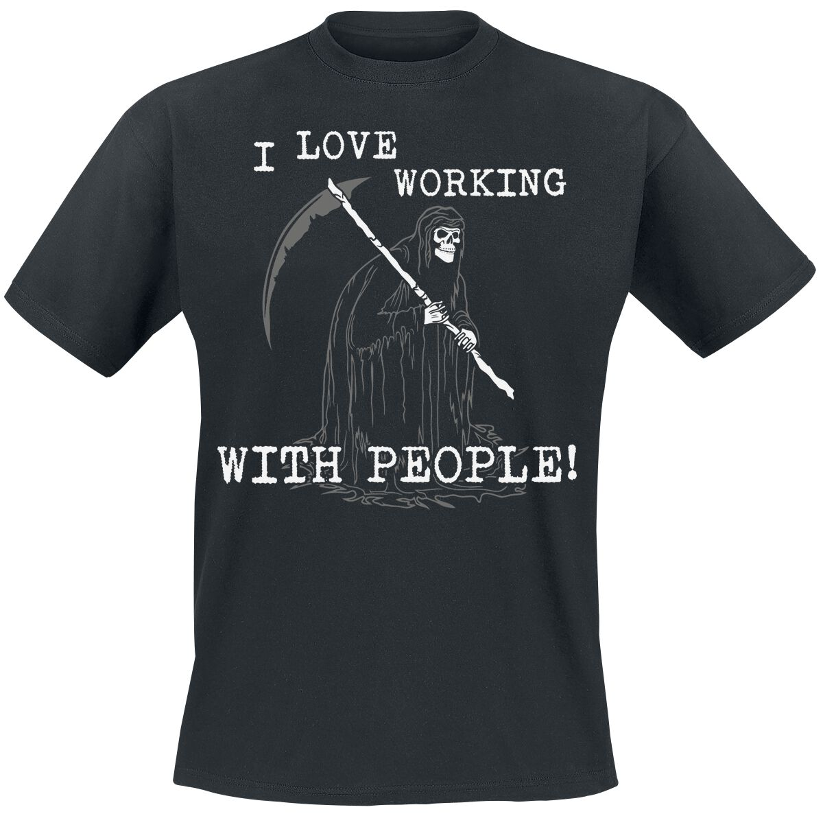 Fun Shirts - Koszulki - T-Shirt I Love Working With People T-Shirt czarny - 345263