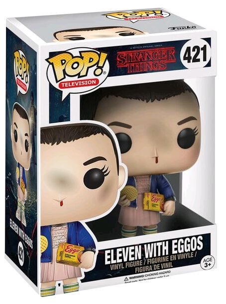 Stranger Things Figurine En Vinyle Onze Avec Des Eggos 421 (Chase Possible) Figurine de collection Standard