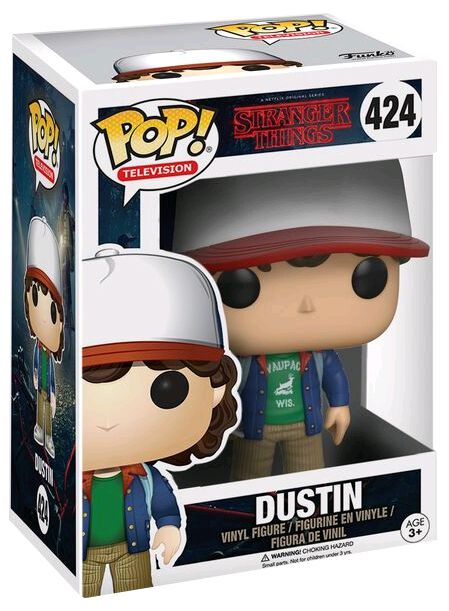 Stranger Things Figurine En Vinyle Dustin 424 Figurine de collection Standard