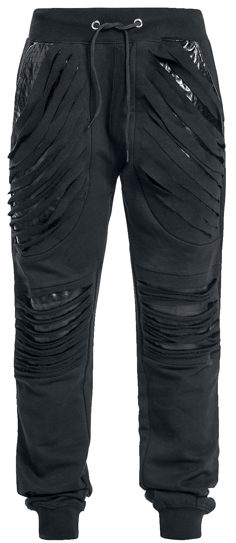 Spiral Gothic Rock Spodnie dresowe damskie czarny