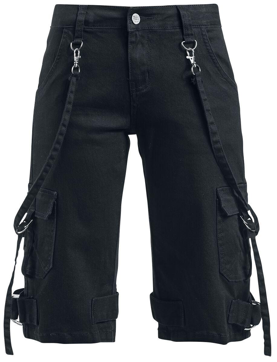 Image of   Black Premium by EMP Buckle Shorts Girlie shorts sort