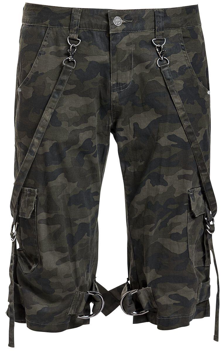 Hosen für Frauen - Black Premium by EMP Pandora's Box Girl Shorts camouflage  - Onlineshop EMP
