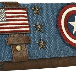 Captain America Bouclier Portefeuille bleu/blanc/rouge
