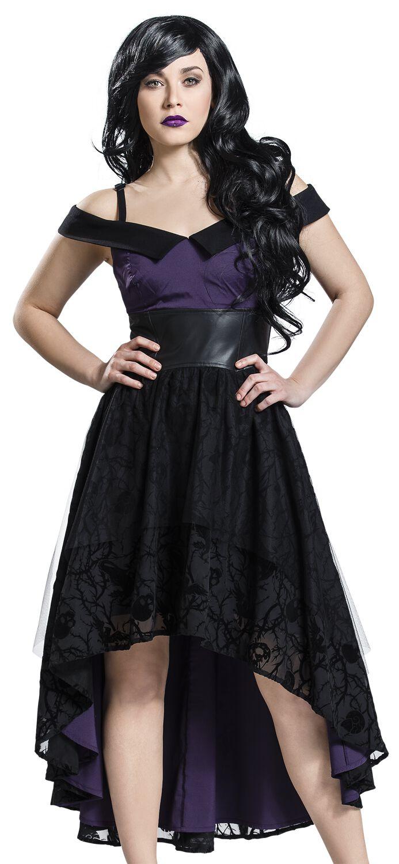 Merch dla Fanów - Sukienki - Sukienka Disney Villains Thorns Sukienka czarny/jasnofioletowy - 345625