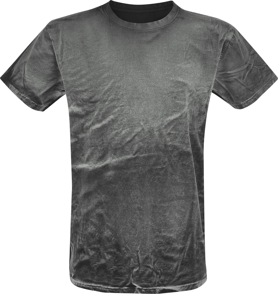 Image of   Outer Vision Spray Washed Black Shirt T-Shirt grå