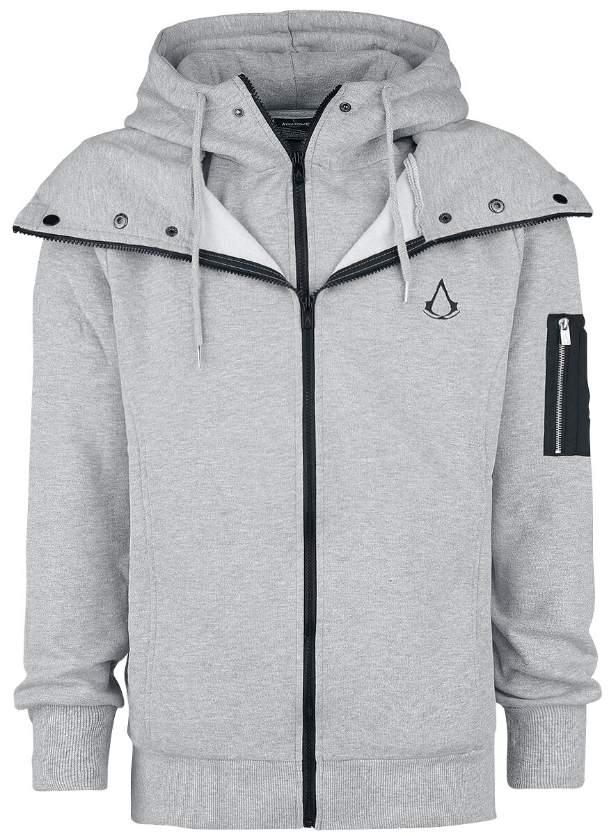 Image of   Assassin's Creed Double Layered Hættejakke grålig