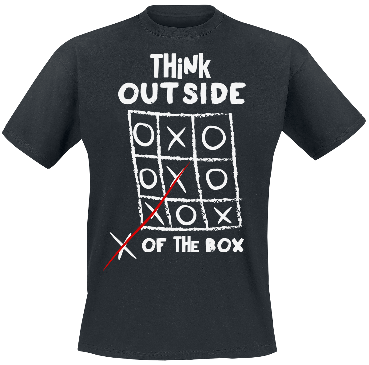 Think Outside Of The Box - - T-Shirt - black