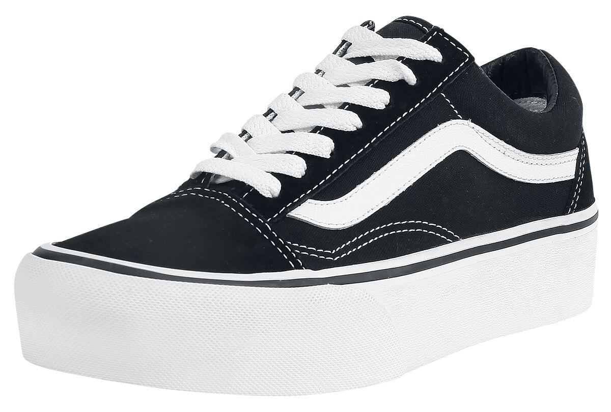 Image of   Vans Old Skool Platform Sneakers sort-hvid