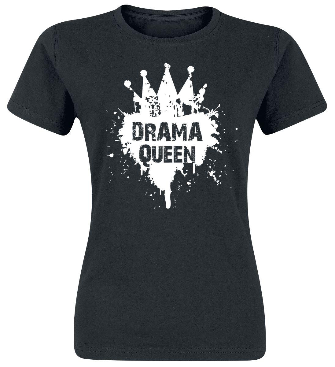 Fun Shirts - Koszulki - Koszulka damska Drama Queen Koszulka damska czarny - 345898