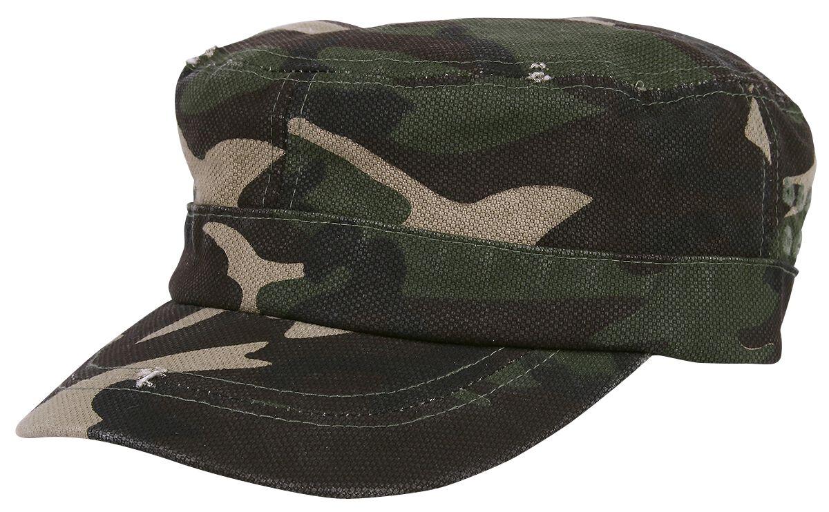 Basics - Czapki i Kapelusze - Czapka wojskowa Army Cap Czapka wojskowa kamuflaż - 345905