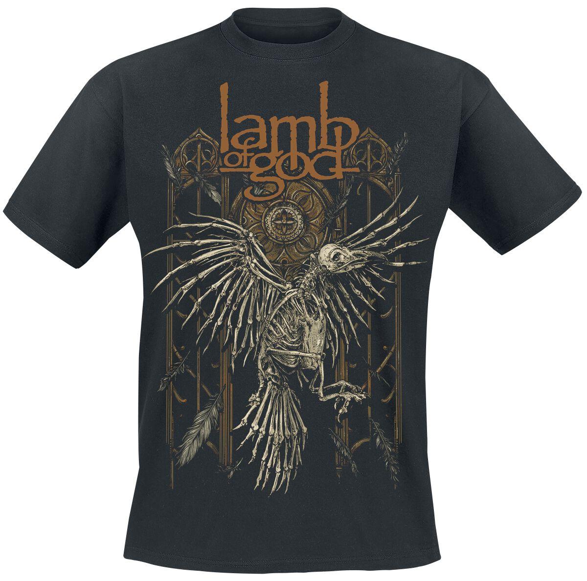 Zespoły - Koszulki - T-Shirt Lamb Of God Crow T-Shirt czarny - 345929