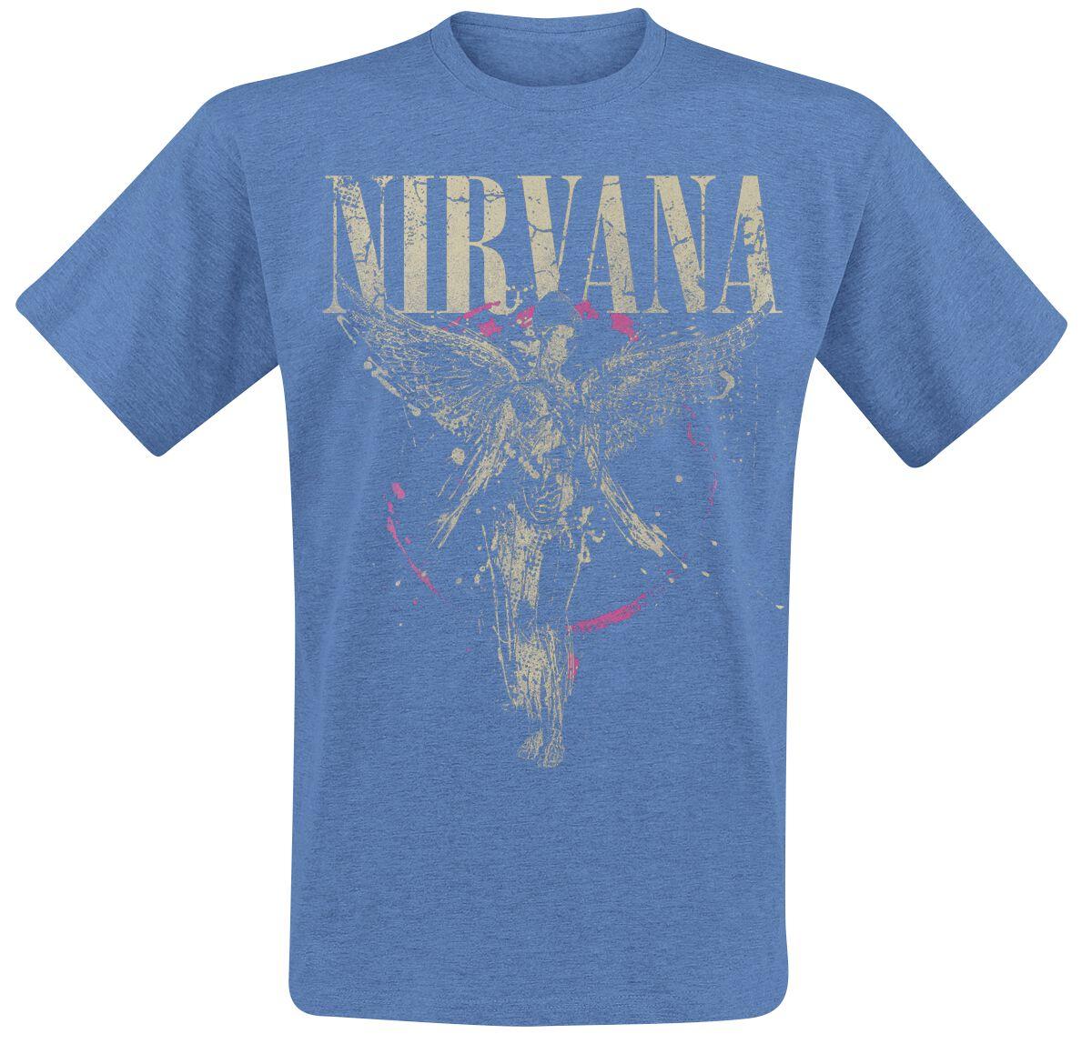Zespoły - Koszulki - T-Shirt Nirvana In Utero T-Shirt odcienie niebieskiego - 345983