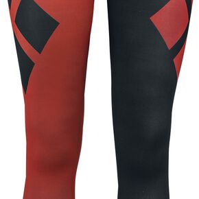 Harley Quinn Leggings Quadrillés Legging rouge/noir