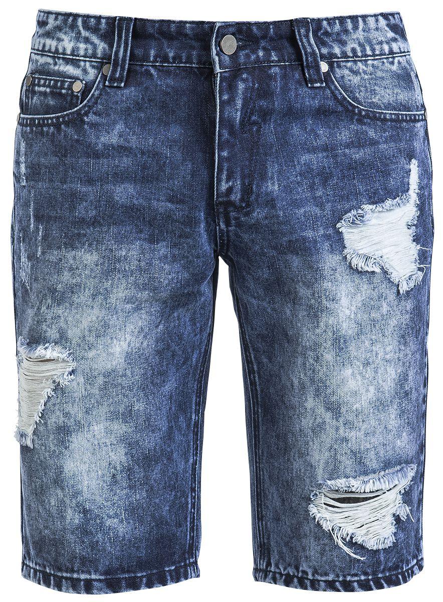 Image of   Forplay Destroyed Jeans Short Shorts blå