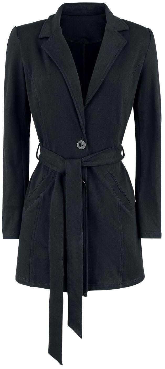 Image of   Forplay Jersey Coat Girlie frakke sort