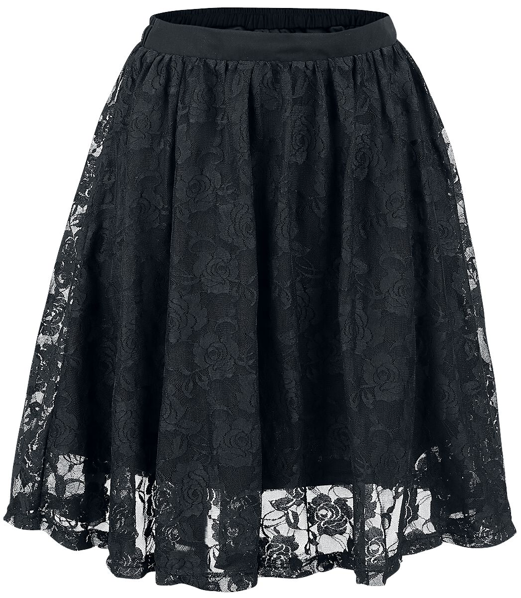 Image of   Forplay Lace Covered Skirt Nederdel sort
