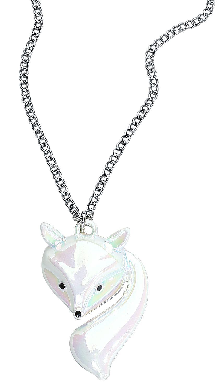 Image of   Blackheart White Fox Halskæde hvid