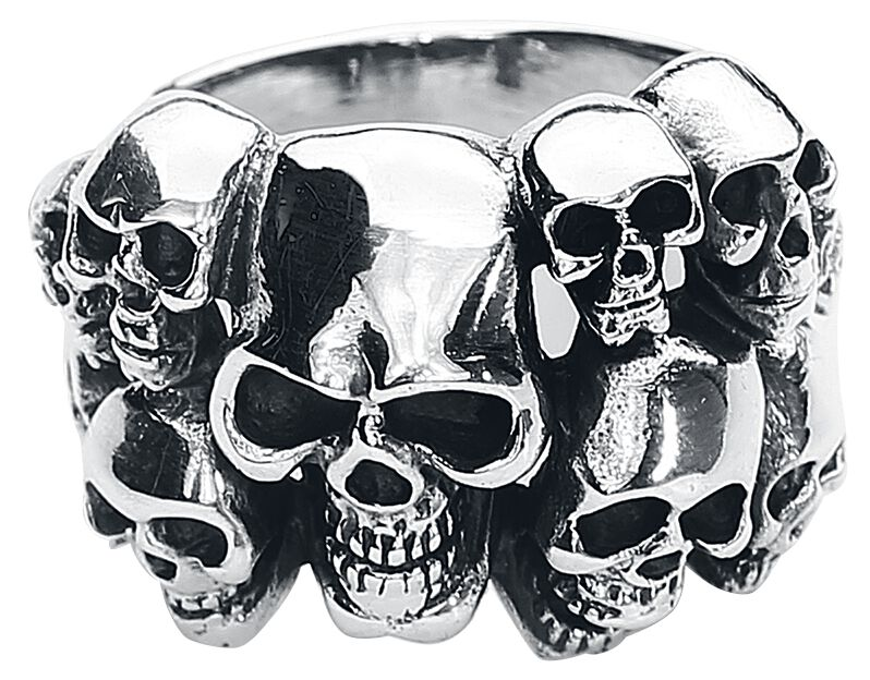 Image of   etNox hard and heavy Skulls Ring sølvfarvet